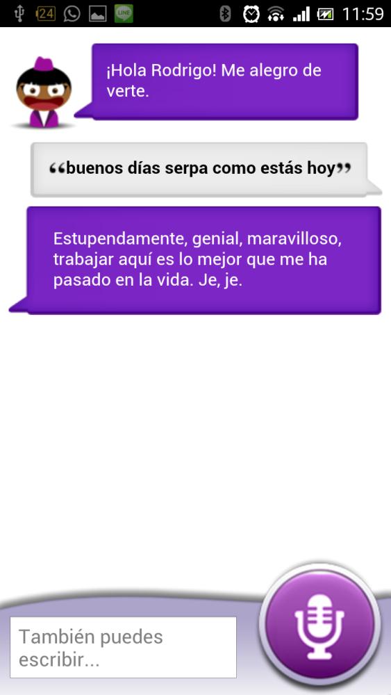 Sherpa. Asistente de voz para Android (2/2)