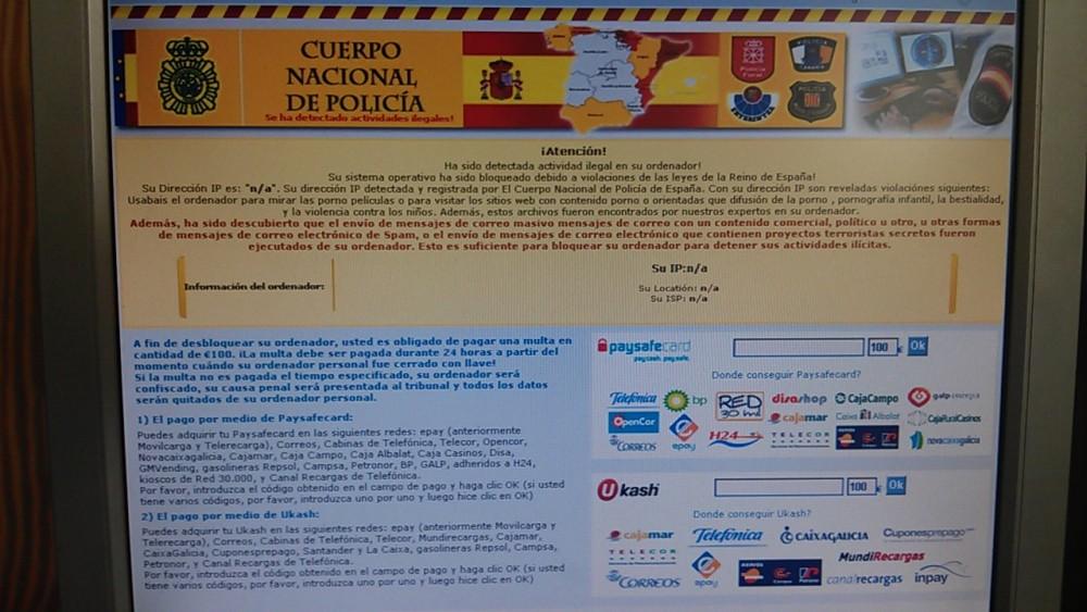 Virus Policía Nacional 100 Euros