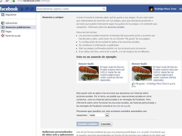 Facebooksettings