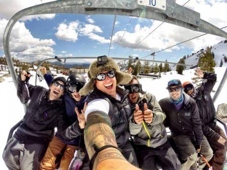 selfie-esquiar